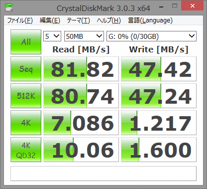 SnapCrab_CrystalDiskMark 303 x64_2014-10-10_16-41-40_No-00
