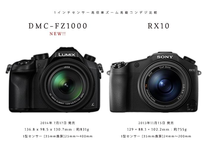 『DMC-FZ1000 vs RX-10 比較』 1インチセンサー高倍率ズーム高級コンデジを比較する。