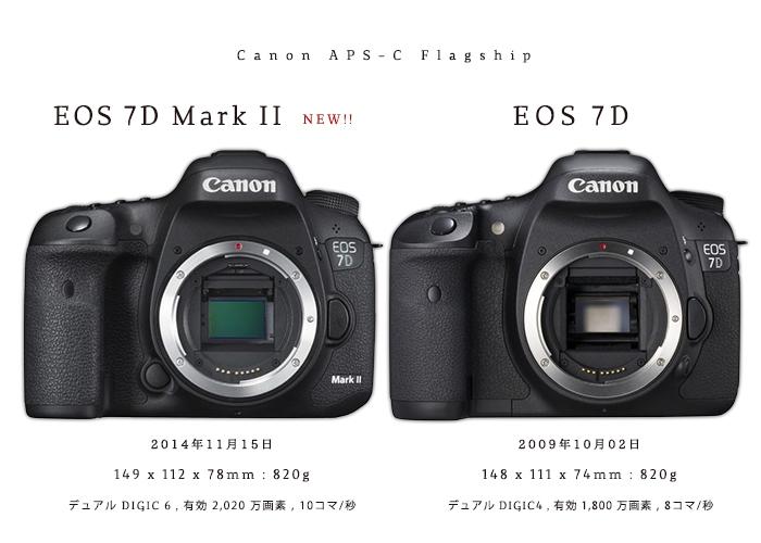 [キヤノン EOS 7D Mark II vs 7D 比較] 7D Mark II からみる、Canon APS-Cフラグシップ機の違い