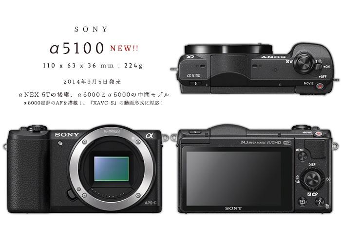 YouTuberおすすめ動画ミラーレス一眼『ソニー α5100』!自撮りもできてAFも高性能。NEX-5T、α6000、α5000と比較する