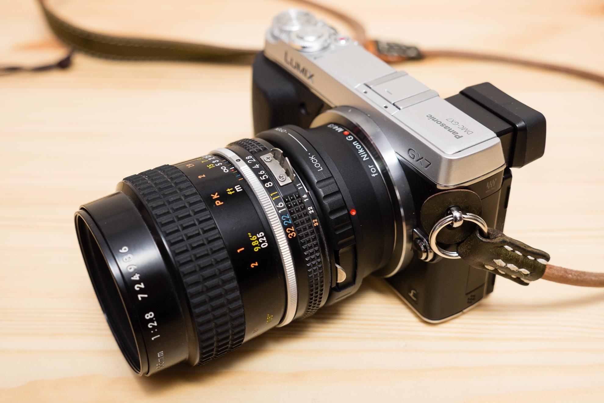 パナソニックのカメラ(GX-7)でマウントアダプターを使ってオールドレンズを使った撮影をする時の便利な設定方法