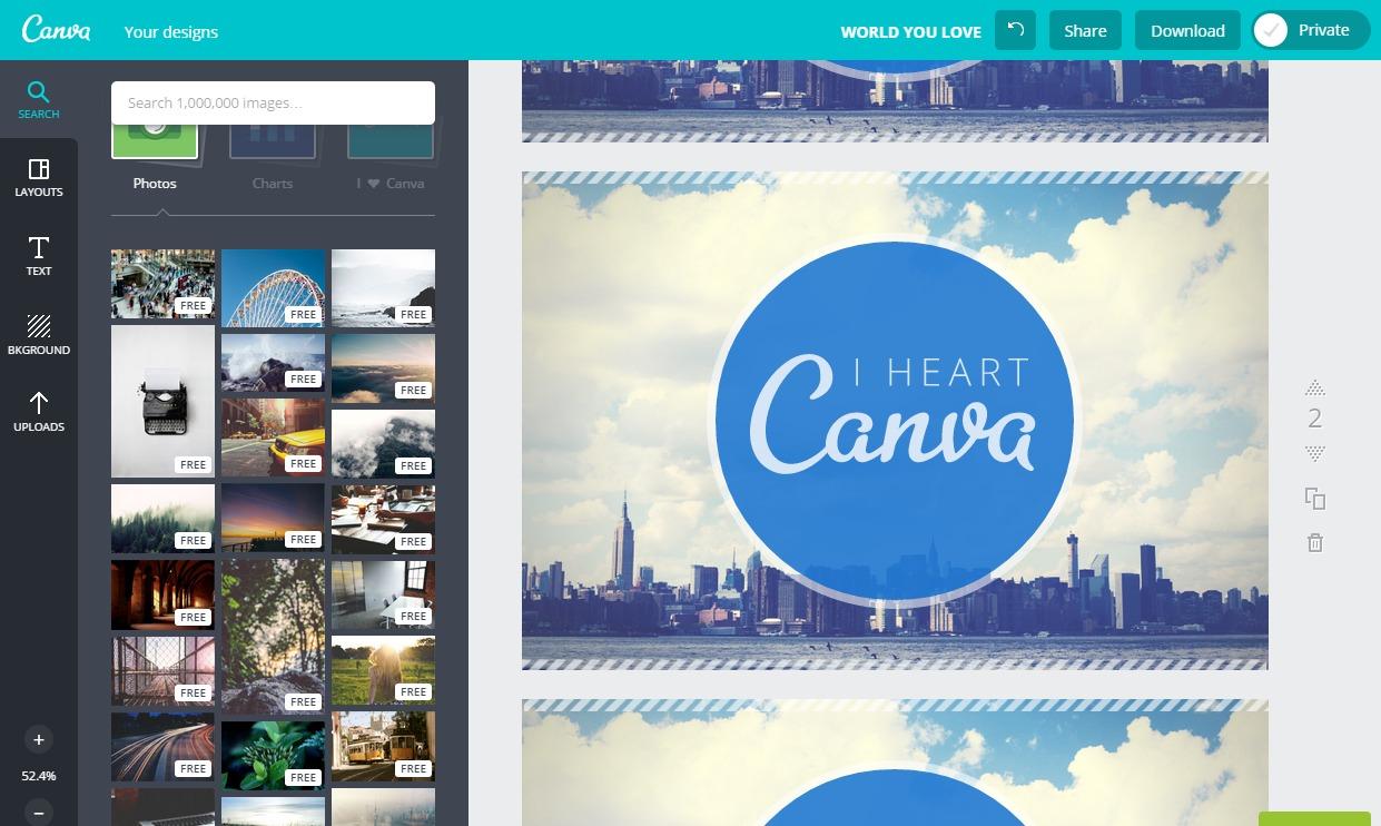 ブログ用にアイキャッチ・バナー画像がWebだけで簡単に作成できる