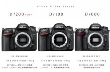 ニコン D7200 vs D7100 vs D7000 機能比較。D7200からみる Nikon DXフォーマットAPS-C中級機の違い