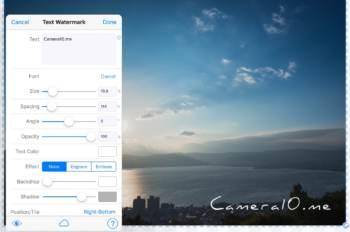 iPad/iPhoneアプリで写真に透かし(ウォーターマーク)を入れるなら「iWaterMark+」がおすすめ!