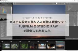 カステム設定の作り込みが捗る純正RAW現像ソフト「FUJIFILM X RAW STUDIO」を使って現像してみました。【X-T20】 | かめらとブログ。
